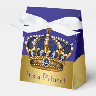 Het blauwe Gouden Baby shower van de Kroonprins Bedankdoosjes