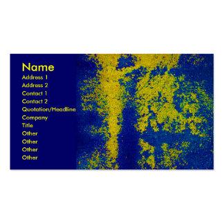Het blauwe Gouden Visitekaartje van de Ontwerper