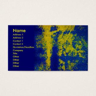 Het blauwe Gouden Visitekaartje van de Ontwerper Visitekaartjes