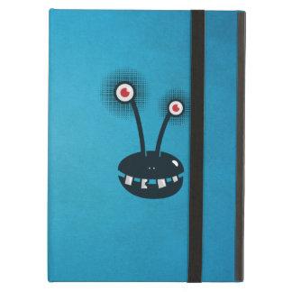Het blauwe Grappige Halftone Vreemde Folio van de