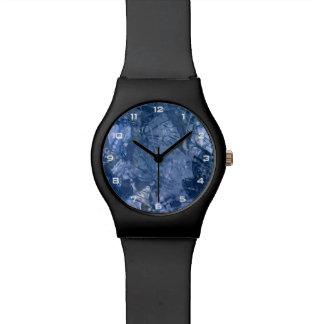 Het blauwe Grunge Horloge van de Collage May28th