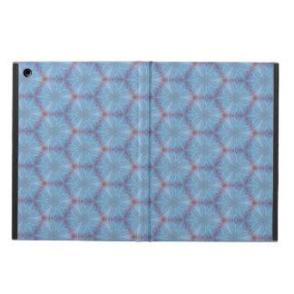 Het blauwe Hoesje Caleidoscopic van de Vleugel van iPad Air Hoesje