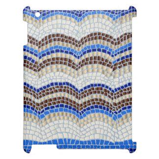 Het blauwe Hoesje van de Steen van het Mozaïek Hoesje Voor iPad