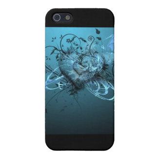 HET BLAUWE HOESJE VAN HET HART IPOD iPhone 5 HOESJE