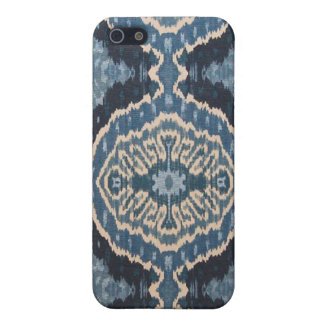 Het blauwe Hoesje van Ikat IPhone iPhone 5 Case
