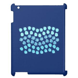 Het blauwe Hoesje van iPad van Golven Glanzende Hoesje Voor iPad