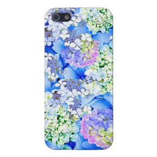 Het blauwe Hoesje van iPhone van de Hydrangea hort iPhone 5 Hoesjes