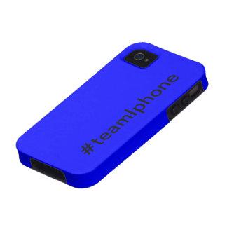 Het blauwe hoesje van teamiphone 4/4s iPhone 4 hoesje