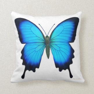 Het blauwe Hoofdkussen van de Vlinder van Papilio Sierkussen