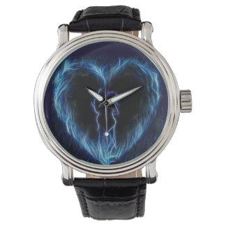 Het blauwe Horloge van het Hart van de Brand