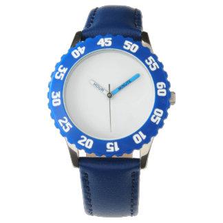 Het Blauwe Horloge van het roestvrij staal met
