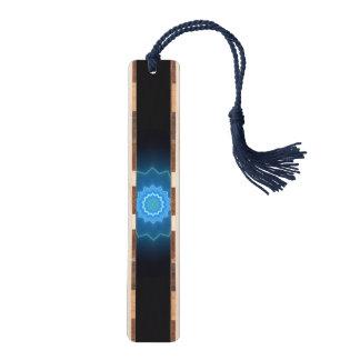 Het blauwe Houten Bladwijzer van de Caleidoscoop