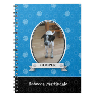 Het blauwe Huisdier van de Druk van de Poot Ringband Notitieboek