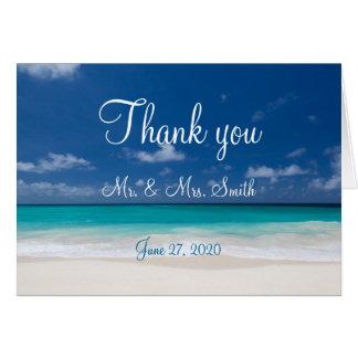 Het blauwe Huwelijk van het Strand dankt u Kaarten