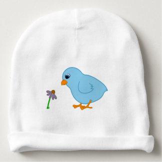 Het Blauwe Kuiken van het baby met Paarse Baby Mutsje