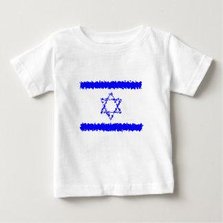 Het Blauwe Land van Israël van vlaggen Baby T Shirts