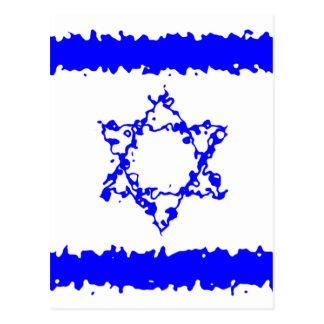 Het Blauwe Land van Israël van vlaggen Briefkaart