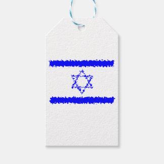 Het Blauwe Land van Israël van vlaggen Cadeaulabel