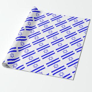 Het Blauwe Land van Israël van vlaggen Inpakpapier