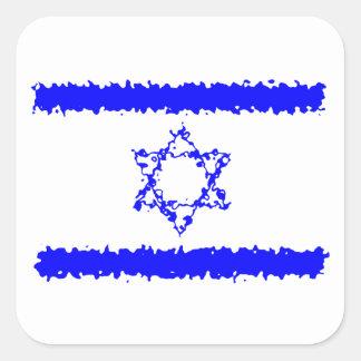 Het Blauwe Land van Israël van vlaggen Vierkante Sticker