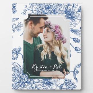 Het blauwe Lijst van het Huwelijk van de Foto van Fotoplaat