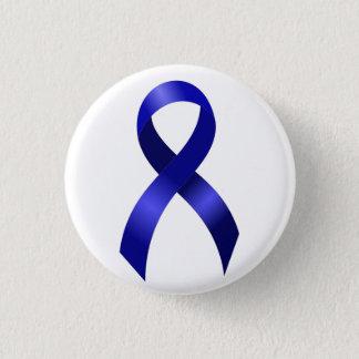 Het Blauwe Lint van Kanker van de dubbelpunt Ronde Button 3,2 Cm