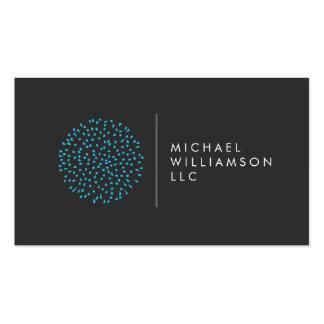 Het Blauwe Logo van het professionele Moderne Stip Visitekaartjes