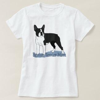 Het blauwe Mamma van Boston Terrier van de T Shirt