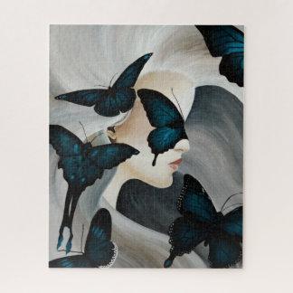Het blauwe Masker van de Vlinder Puzzel