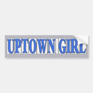 Het blauwe Meisje van Uptown van Tegels Bumpersticker