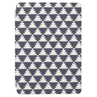 Het Blauwe Moderne Azteekse Geometrische Patroon iPad Air Cover