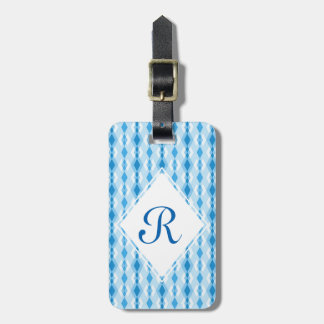 Het blauwe Monogram van de Diamant Bagagelabel