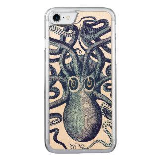 Het blauwe Monster van het Zee van de Octopus Carved iPhone 8/7 Hoesje