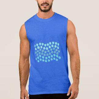 Het blauwe Mouwloos onderhemd van het Mannen van T Shirt