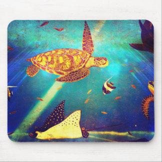 Het blauwe Oceaan Kleurrijke Schilderen van de Muismatten