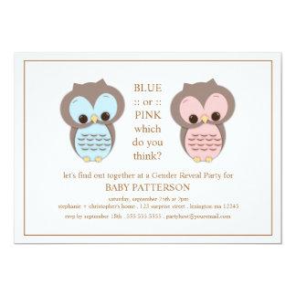 Het blauwe of Roze Geslacht van het Baby van de 12,7x17,8 Uitnodiging Kaart