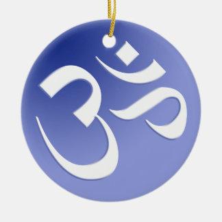 Het blauwe Om Ornament van het Symbool