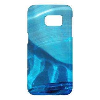 Het blauwe Ontwerp van de Werveling van het Samsung Galaxy S7 Hoesje