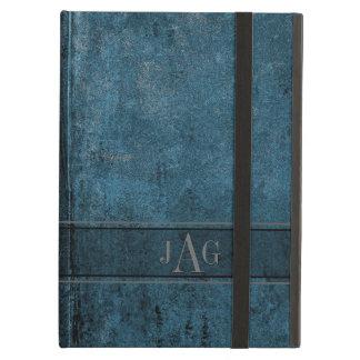 Het Blauwe Ontwerp van het Boek rustieke Grunge iPad Air Hoesje