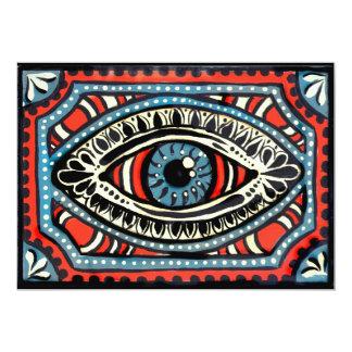 Het blauwe Oog van Zigeuners Kaart