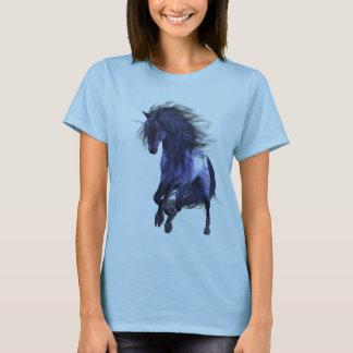 Het blauwe Overhemd van de Vrouw van de Eenhoorn T Shirt