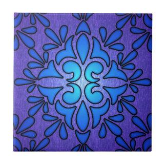 Het blauwe Paarse Ontwerp van de Stijl van het Gla Tegeltje Vierkant Small