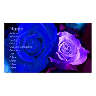 Het blauwe Paarse Visitekaartje van de Kunstenaar