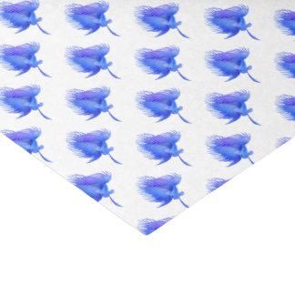 Het blauwe Papieren zakdoekje van Crowntail Betta Tissuepapier