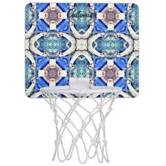Het blauwe patroon Thunder_Cove van mandalaharten Mini Basketbalbord