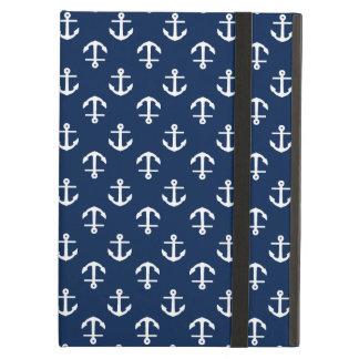 Het blauwe Patroon van Ankers iPad Air Hoesje