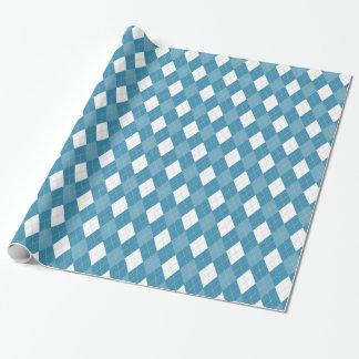 Het blauwe Patroon van Argyle van de Diamant Cadeaupapier