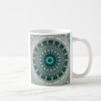 Het blauwe patroon van de Caleidoscoop van Mandala Koffiemok