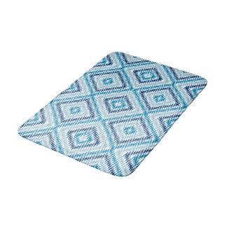 Het blauwe Patroon van de Diamant Badmat