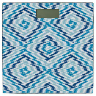 Het blauwe Patroon van de Diamant Personenweegschaal